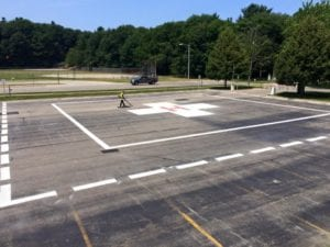 Helicopter pad markings by Advanced Pavement Marking