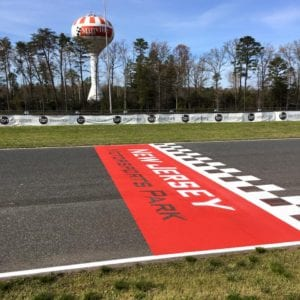 Race track painting by Advanced Pavement Marking