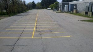 Parking lot striping project by APM