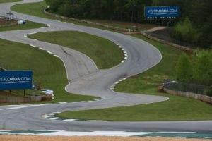Race track pavement markings by Advanced Pavement Marking