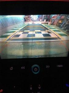 View from Camaro ss backup camera
