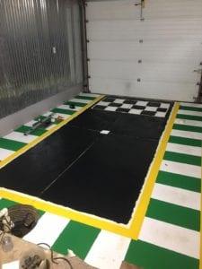 Garage mahal during painting