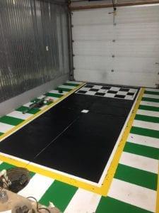 Custom garage mahal floor painting