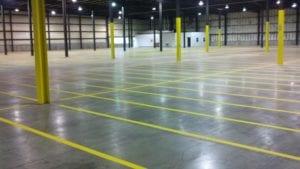 Warehouse markings by Advanced Pavement Marking