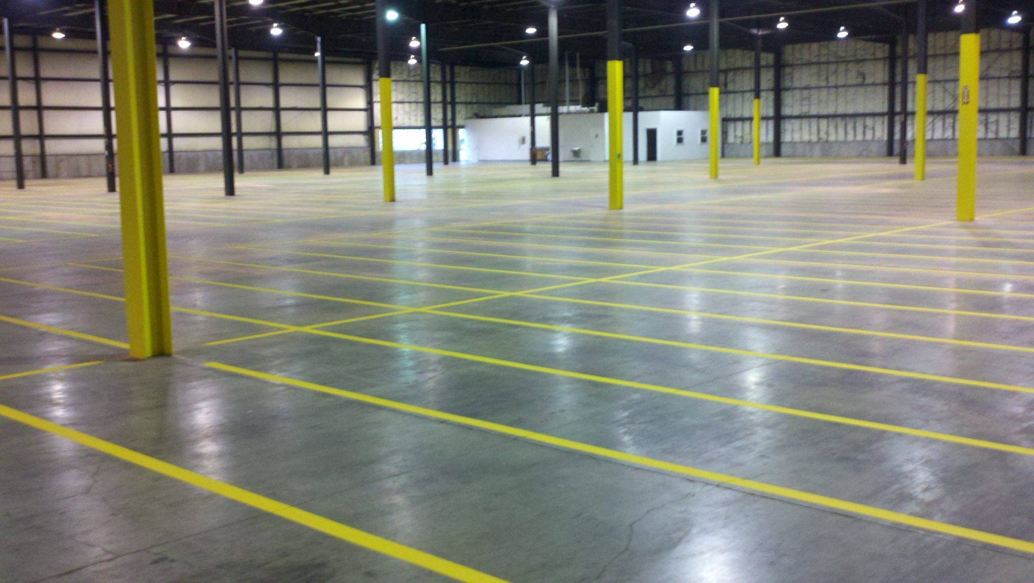 Warehouse markings advanced pavement marking for Cost to paint parking lot lines