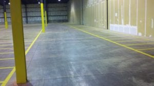 Indoor markings by Advanced Pavement Marking