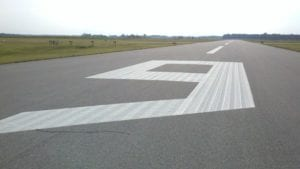Runway marking by Advanced Pavement Marking