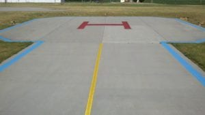 Helicopter marking by Advanced Pavement Marking