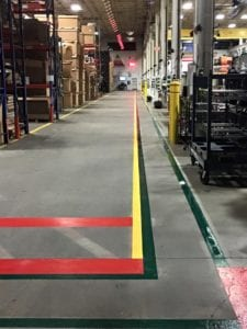 Advanced Pavement Marking indoor markings