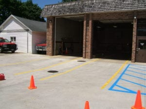 After Parking lot markings installation