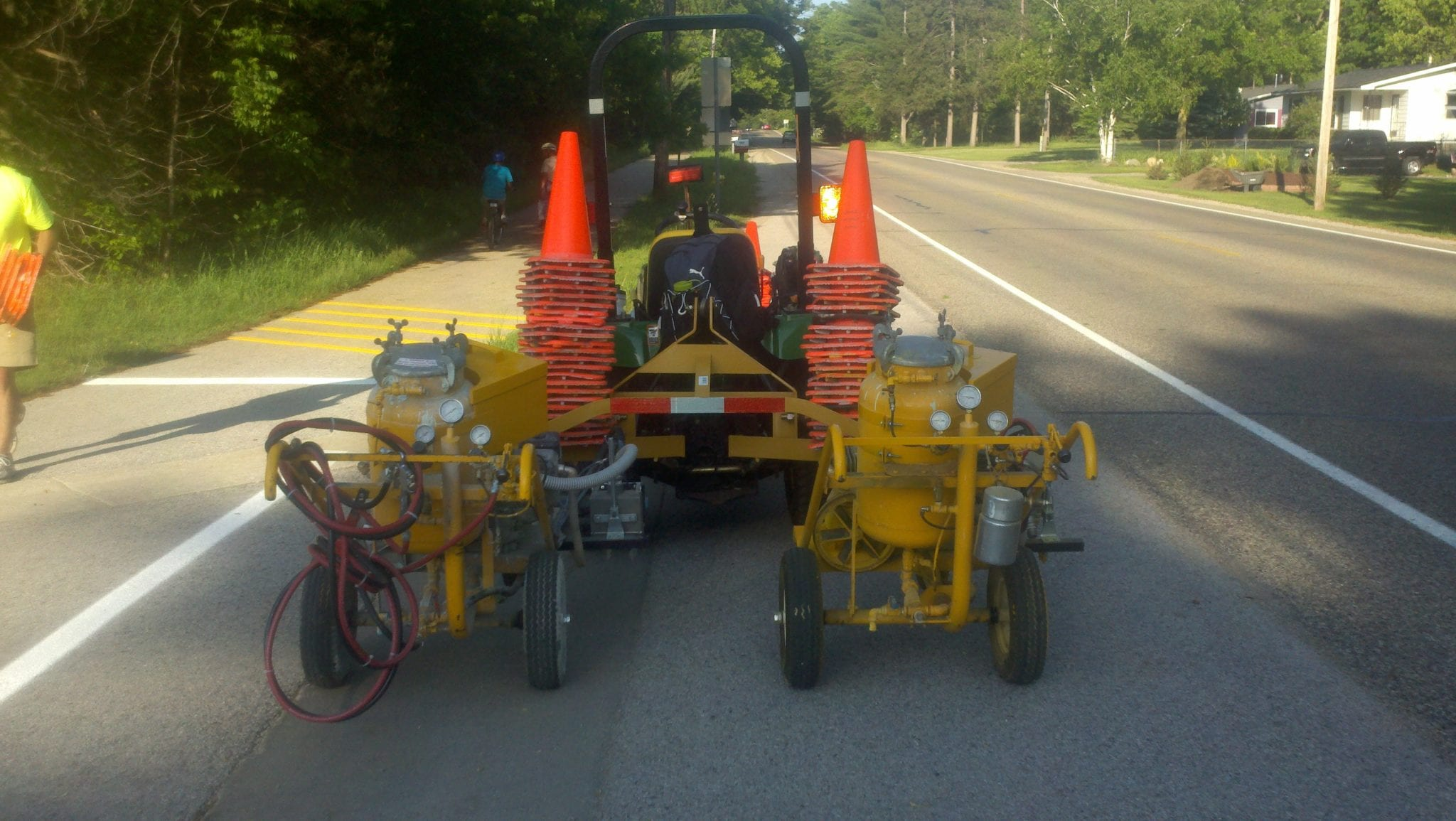 Line striping professionals advanced pavement marking for Parking lot painting equipment