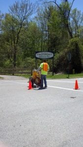 Line striping by Advanced Pavement Marking