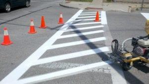 Crosshatch Crosswalk by Advanced Pavement Marking