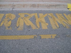 Pavement marking done wrong