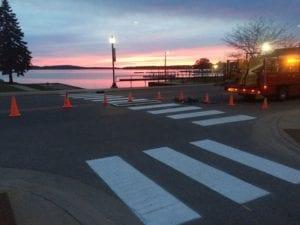 Crosswalk by Advanced Pavement Marking