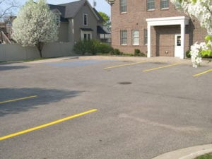 Parking lot striper services by Advanced Pavement Marking