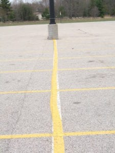Parking lot painting gone wrong