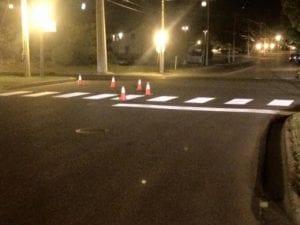 Crosswalk Pads by Advanced Pavement Marking