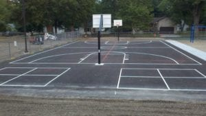 Sports court painting by Advanced Pavement Marking