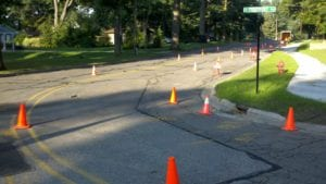Center line marking services
