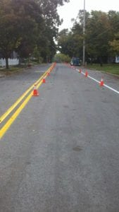 Road painting by Advanced Pavement Marking