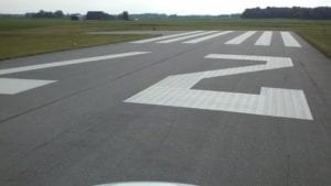 Runway painting by Advanced Pavement Marking