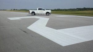 Airport markings by Advanced Pavement Marking