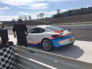 Porsche racing team testing at Road Atlanta