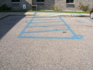 Handicap painting done wrong