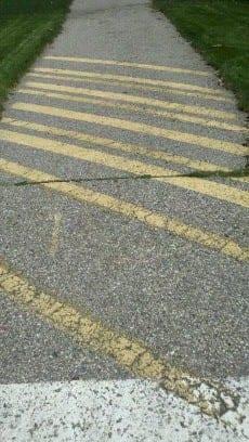 Crosswalk Pavement Marking Services Advanced Pavement