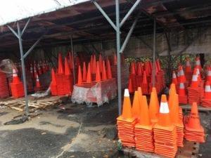 Advanced Pavement Marking traffic cones
