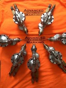 Advanced Pavement Marking truck guns
