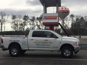 Advanced Pavement Marking working at New Jersey Motorsports Park race track