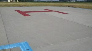 Advanced Pavement Marking installed helicopter landing pad
