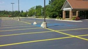 Parking lot striping company Advanced Pavement Marking project