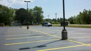 Parking lot striping by Advanced Pavement Marking