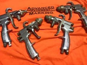 Advanced Pavement Marking hand guns