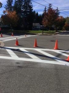 Advanced Pavement Marking crosswalk