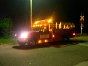Traffic crew working night shift