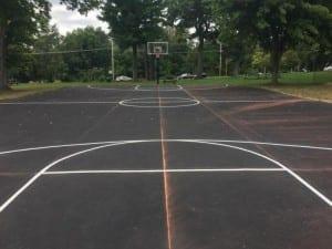 Basketball court by Advanced Pavement Marking
