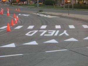 Traffic marking by Advanced Pavement Marking
