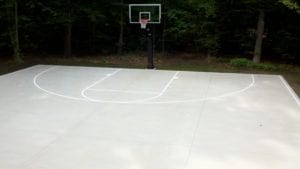 (After) APM crews installed this residential basketball court