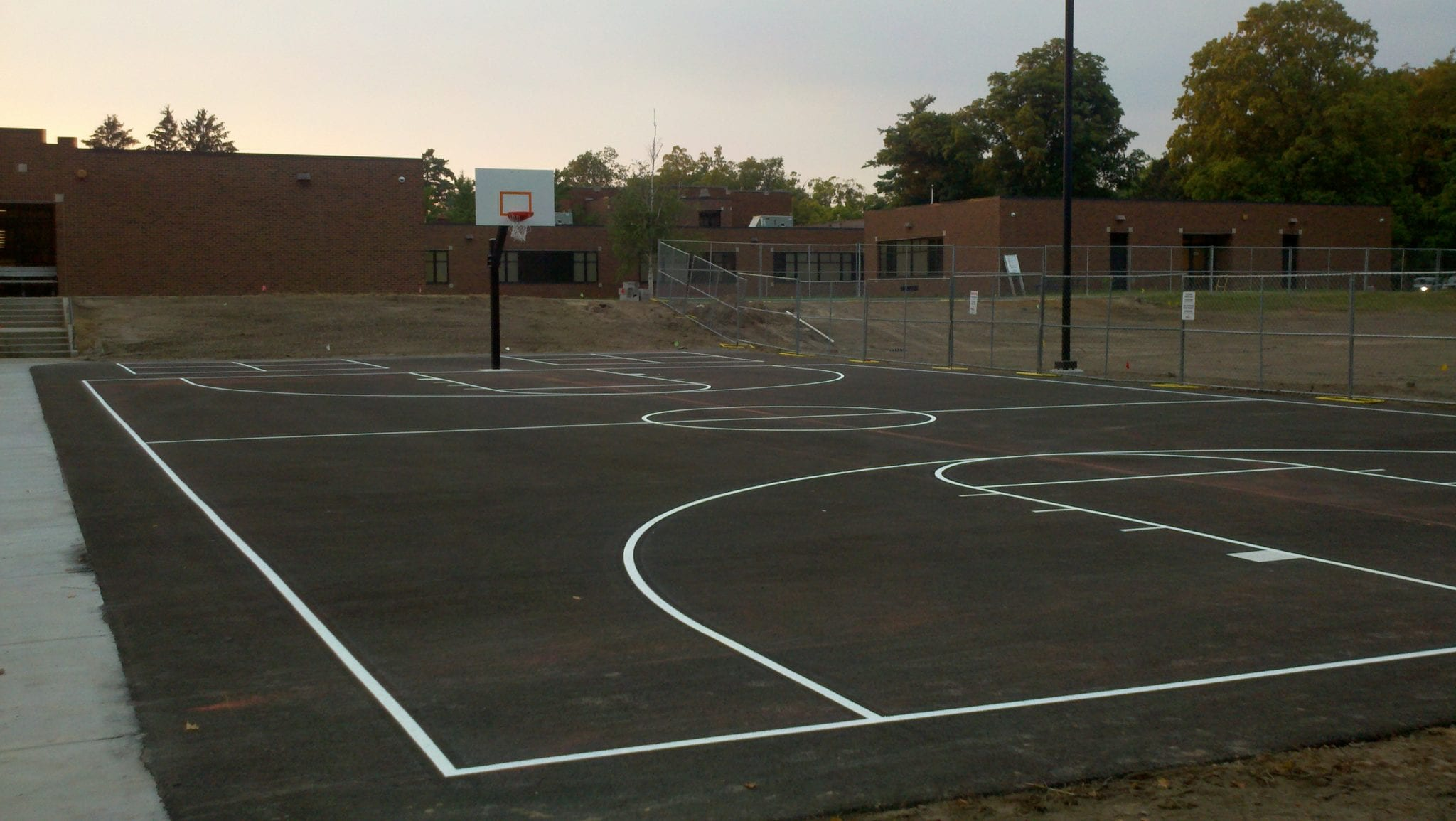 Sports court painting