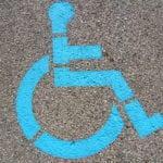 ADA parking stencil