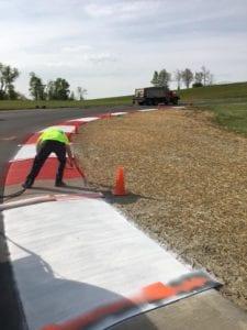 Race track markings