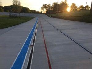 Velodrome racing track