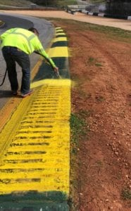 race track painting contractor