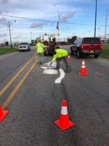 roundabout marking