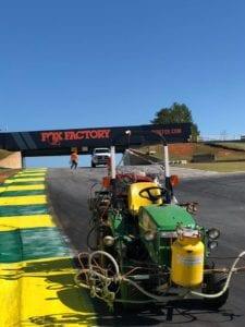 Racecourse marking truck