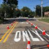 Road painting services by Advanced Pavement Marking